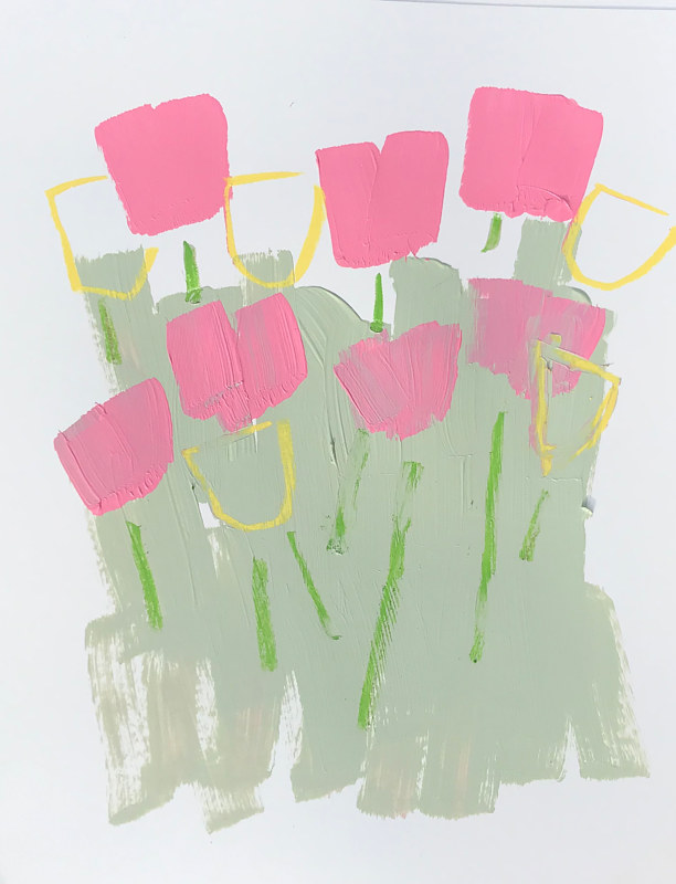 Acrylic painting Blooming, II by Sarah Trundle