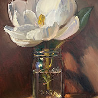 """Magnolia in Mason Jar"" by Noah Verrier"
