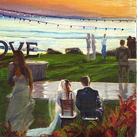 Oil painting Maui Wedding Event Painting 16x20 (image is example) by Pamela Neswald