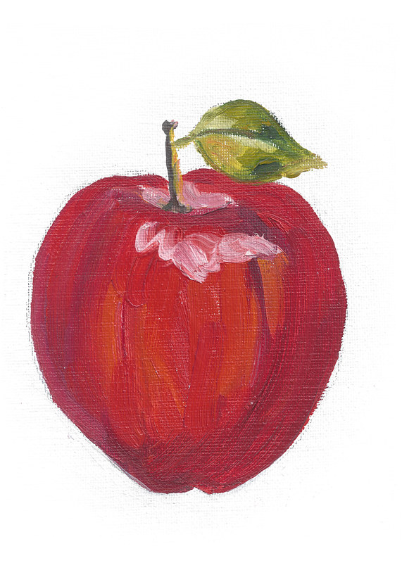 Print Get Well Soon (apple illustration) by Michelle Marcotte
