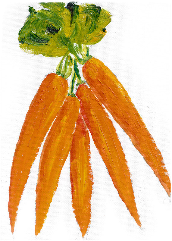 Print Missing you (carrot illustration) by Michelle Marcotte