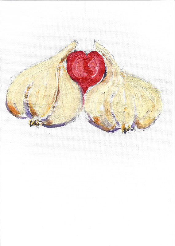 Print Togetherness (garlic illustration) by Michelle Marcotte