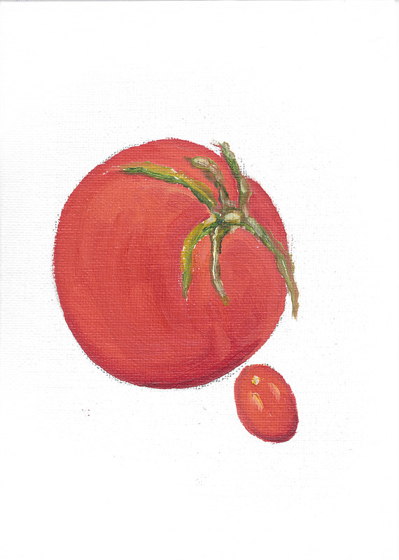 Print Mother's Day (tomato illustration) by Michelle Marcotte