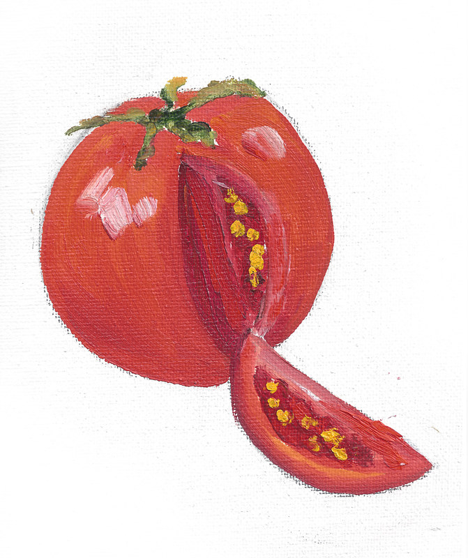 Print Surgery - Get well soon (cut tomato illustration) by Michelle Marcotte