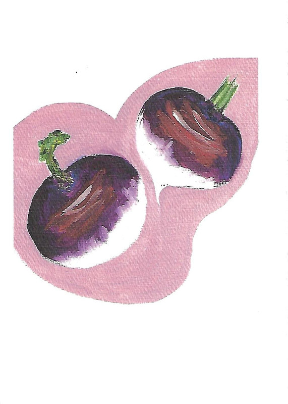 Print Irritated Disbelief (turnip illustration) by Michelle Marcotte