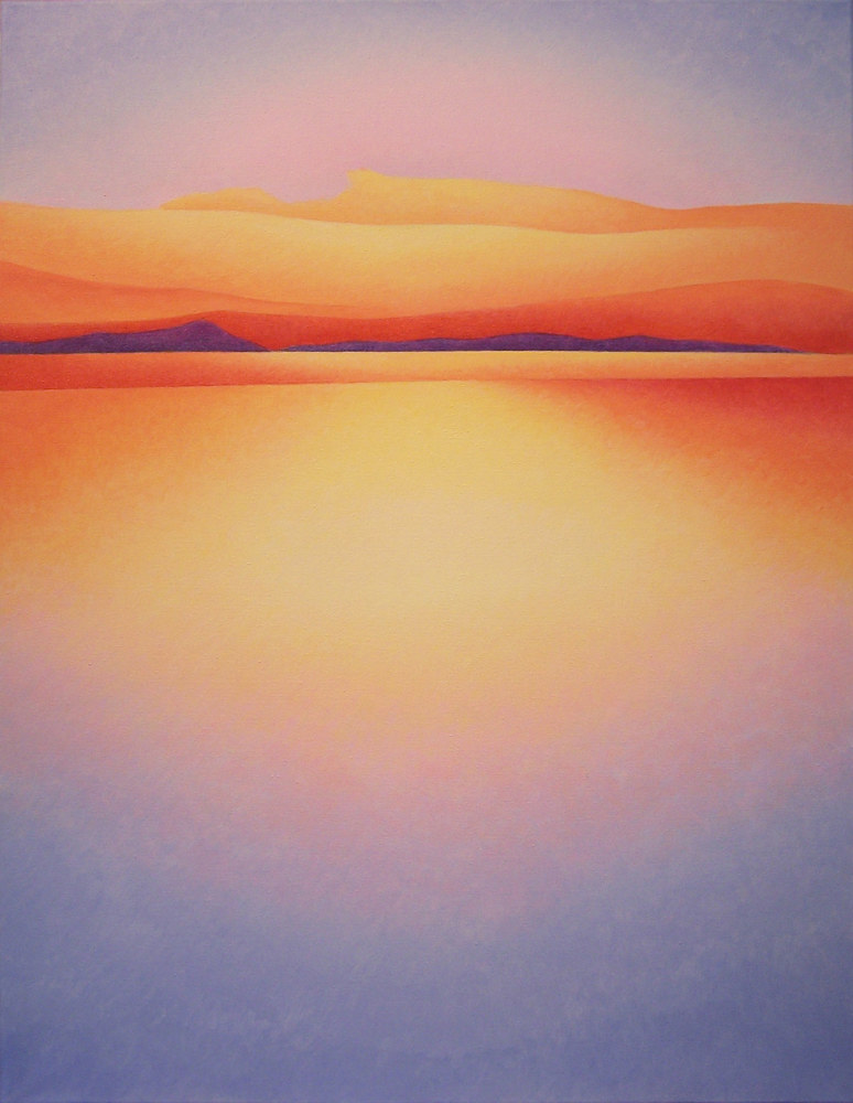 Acrylic painting Radiant Sunrise  by Anne Popperwell