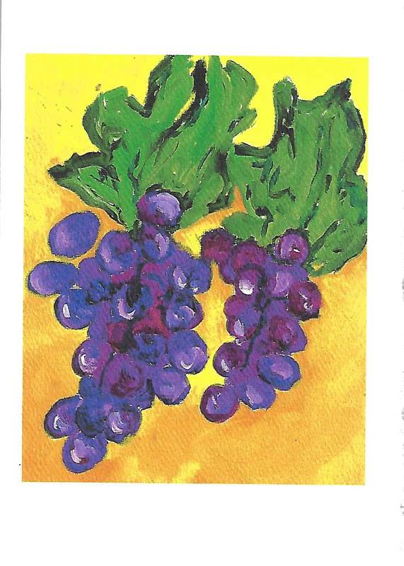 Print Encouragement in difficult times (grapes illustration) by Michelle Marcotte