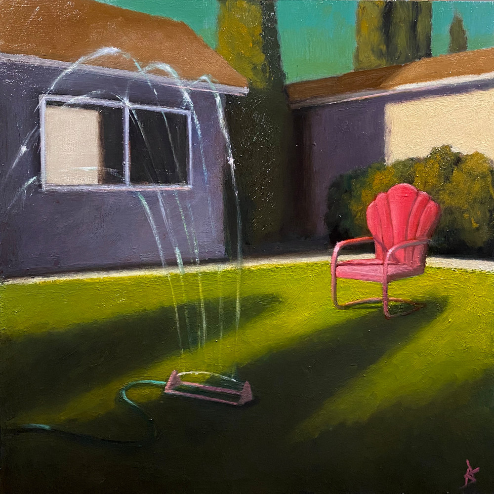 Oil painting Suburban Landscape 6 by Alex Selkowitz