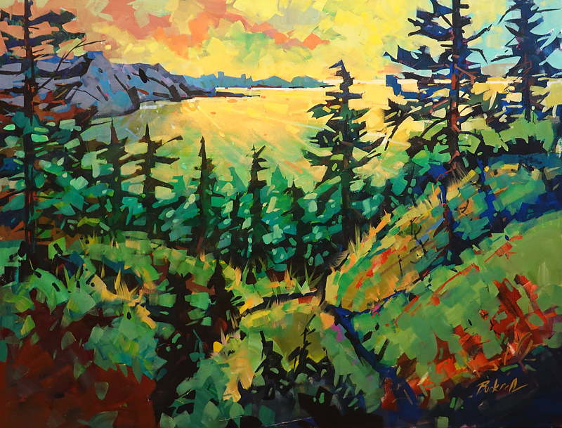 Lake Superior Spring Morning   Acrylic  2019 by Brian  Buckrell