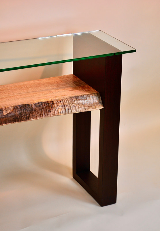 Oil painting Wenge Figured Maple Console Table by Enrique Morales