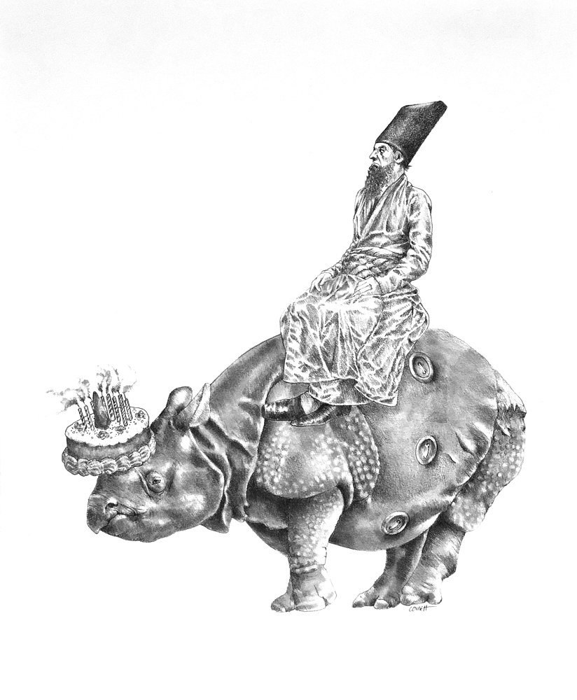 Drawing How the Rhinoceros Got His Skin by Ellen Cornett
