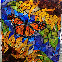 Monarch & Sunflowers by Karen Spears