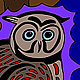 Print Owl under the moon | Une chouette sous la lune by Nathalie Gribinski