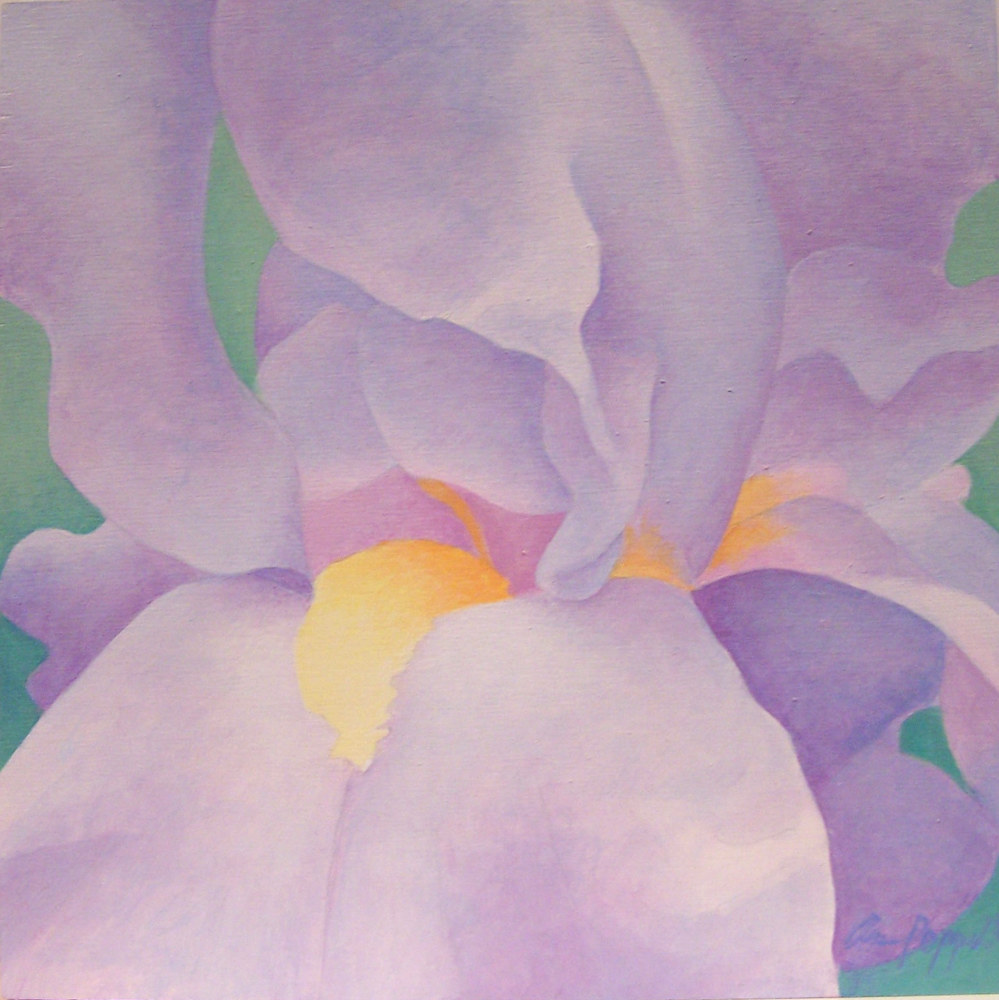 Acrylic painting Blue Iris by Anne Popperwell