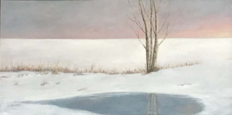 Acrylic painting Winter's Sleep by Catherine Howard
