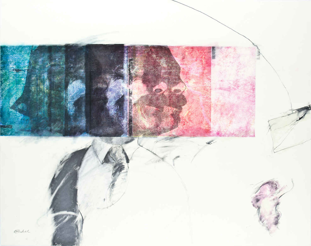 Mixed-media artwork Twist of Fate by Will Bushell