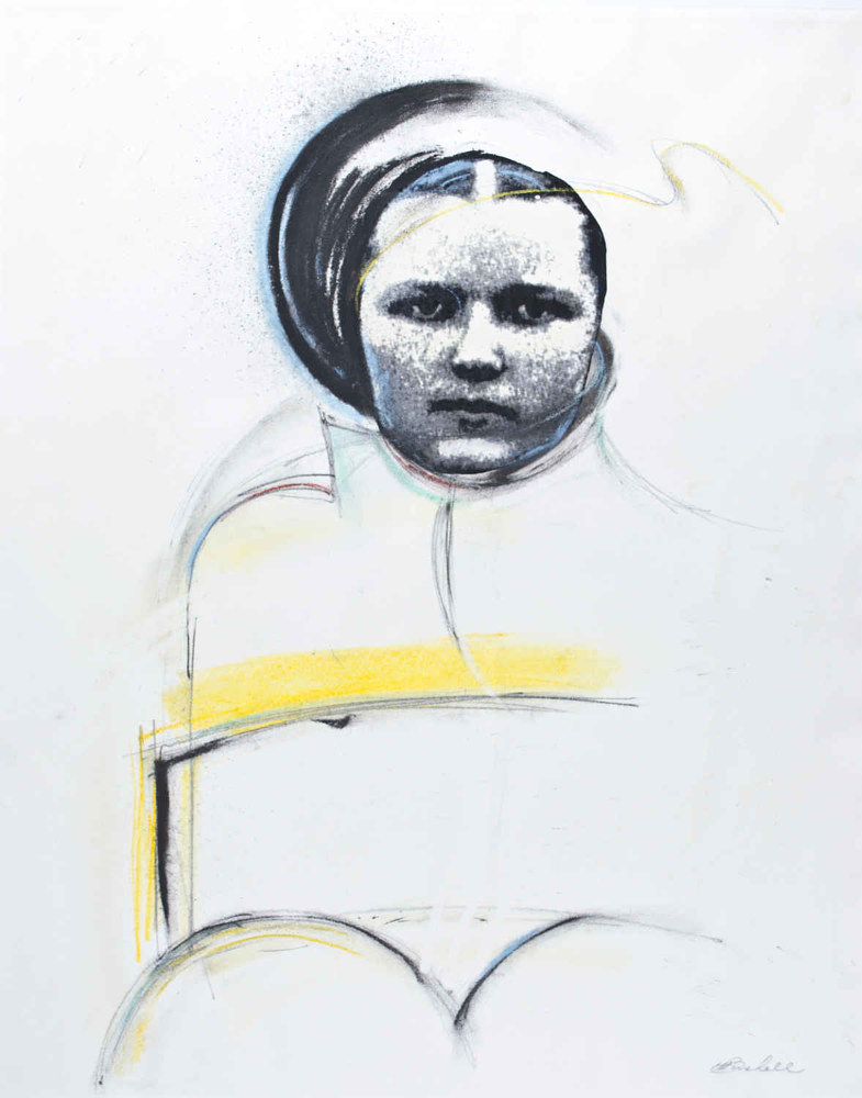Mixed-media artwork A Russian Woman by Will Bushell