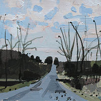 Acrylic painting Lake Way, December Comes by Harry Stooshinoff