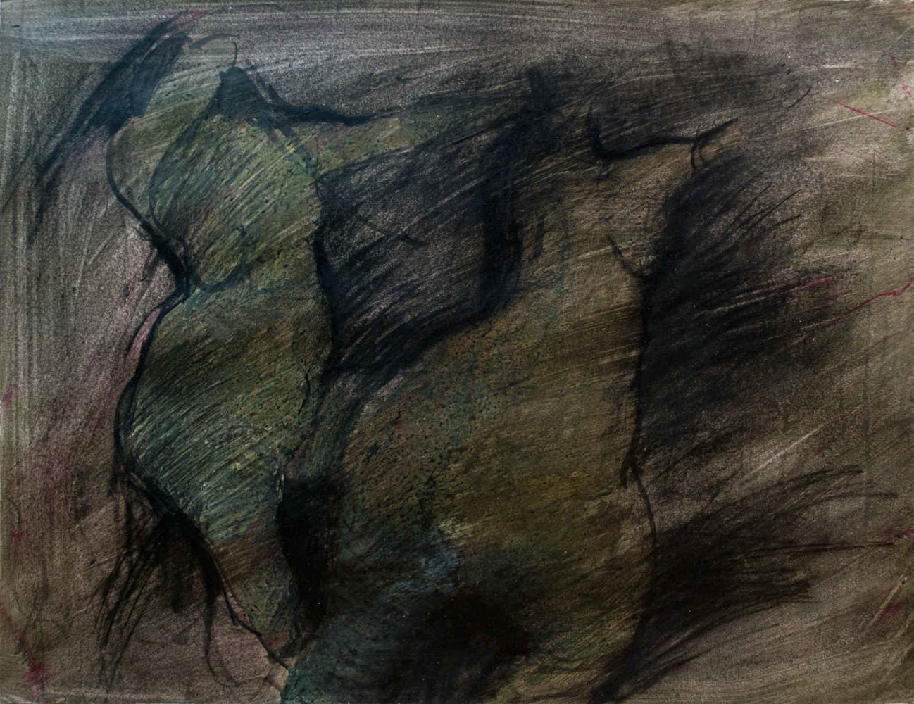 Mixed-media artwork Figure study by Will Bushell