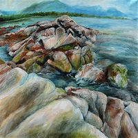 Acrylic painting Hidden (study of the West Coast) by Libuse Labik