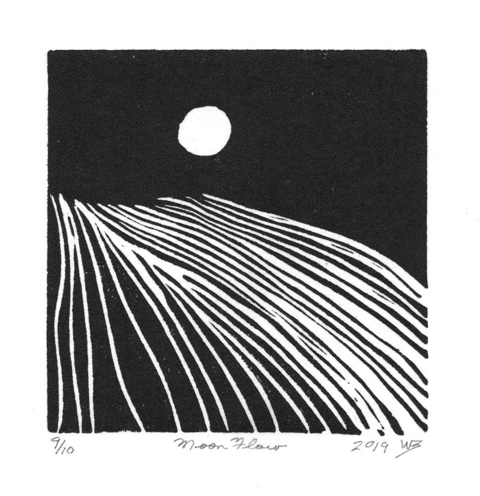 Print moon flow by Will Bushell