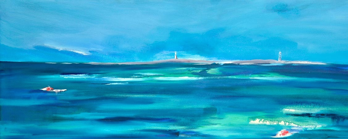 Ocean blues Looking West by Laurie Cochrane