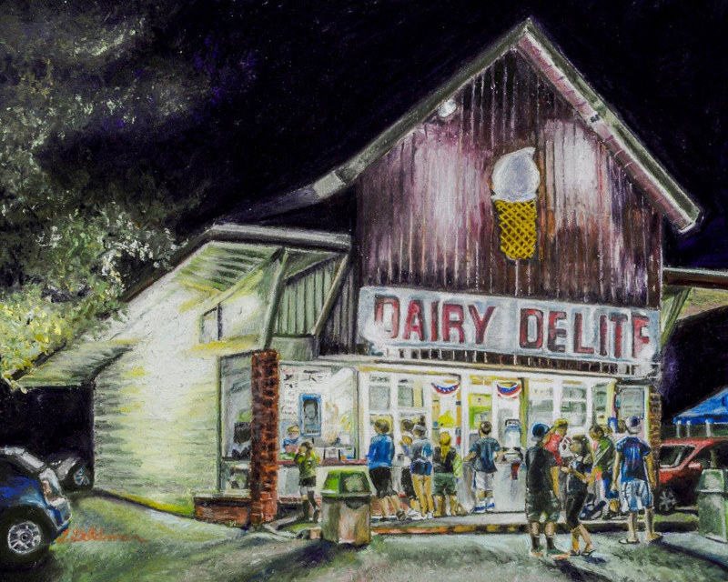 Drawing Dairy Delite  by David Eater