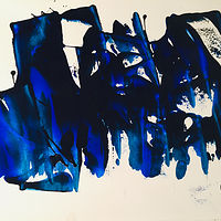 Acrylic painting The Blues have it. by Timothy J Sullivan