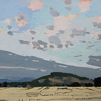 Acrylic painting South Hill, Evening  by Harry Stooshinoff
