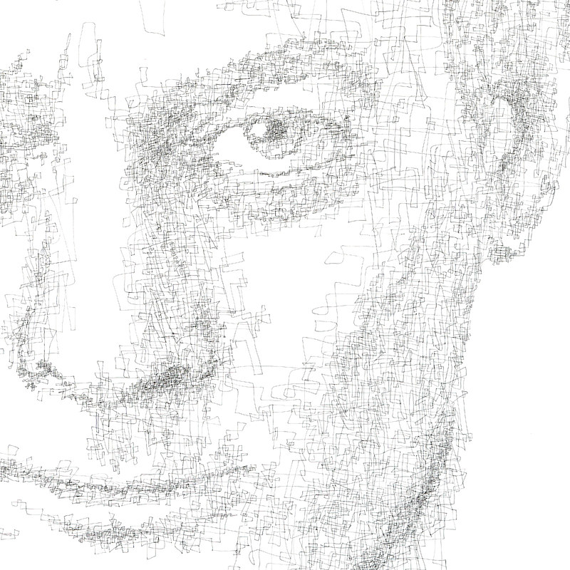 Drawing Hovig 18815 Paul Auster detail 1 1600x1600 by John Hovig