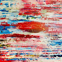 Acrylic painting white.flag.blue by Jeffrey Newman