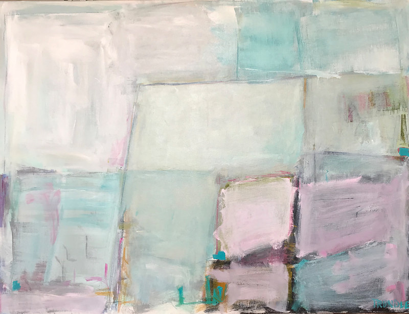 Acrylic painting Surfacing/ Aqua by Sarah Trundle