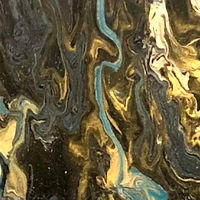 Black and Gold Pour by Elizabeth Mercer