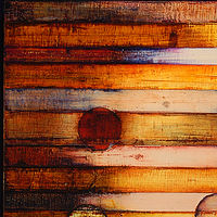 "This Remains: oil, wax on linen, 34"" x 26"" 2008 by Judy Southerland"
