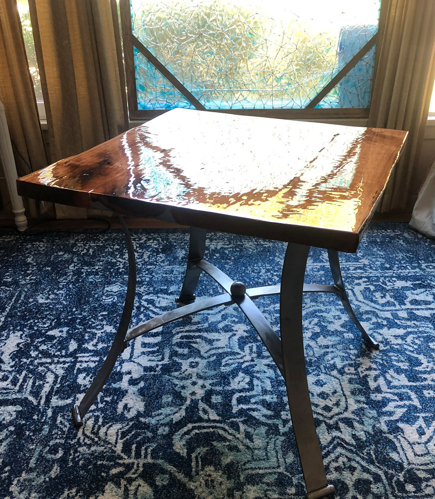 Repurposed Table with Cherry Top by Steven Simmons