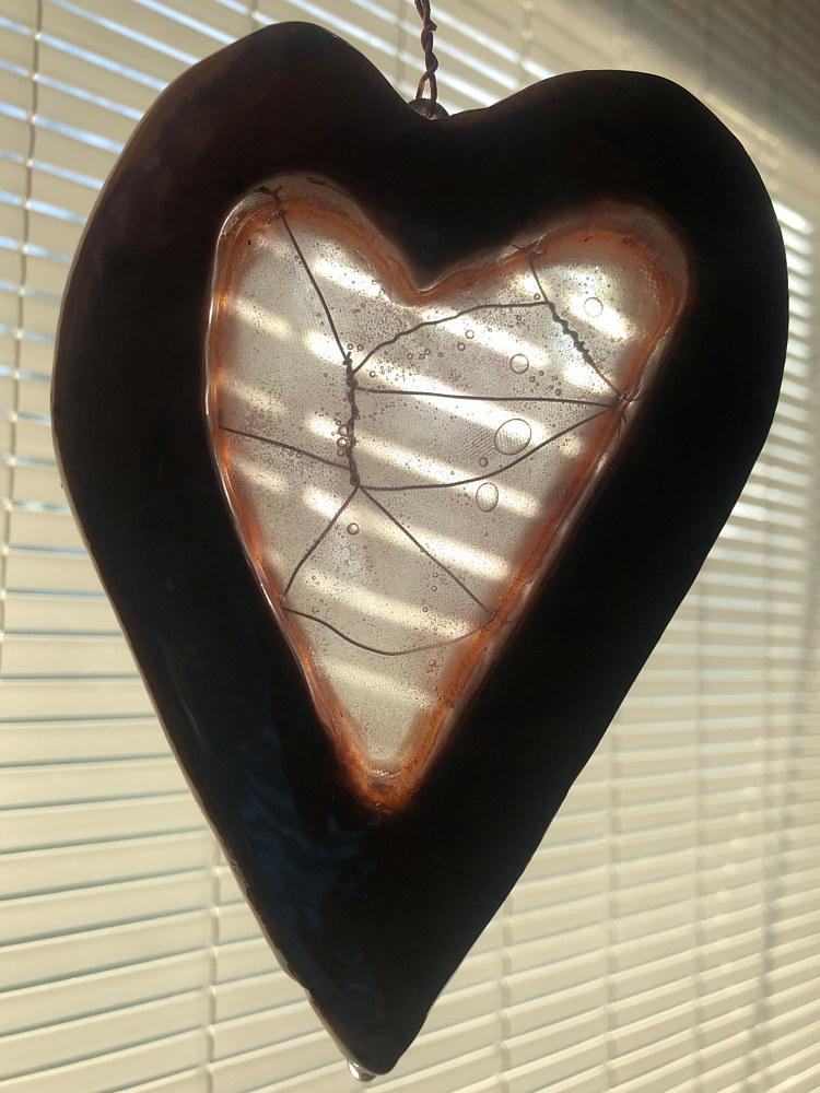 CherryGlass Heart (morning light with blinds) by Steven Simmons