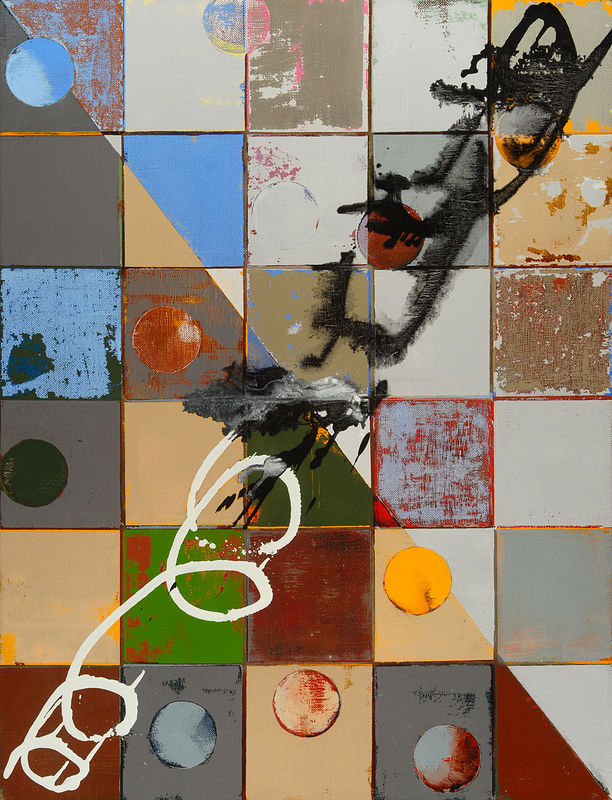 "NYC: oil, wax on linen, 34"" x 26"" 2004 by Judy Southerland"