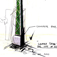 Lighted Spire- concept by John Greg Ball
