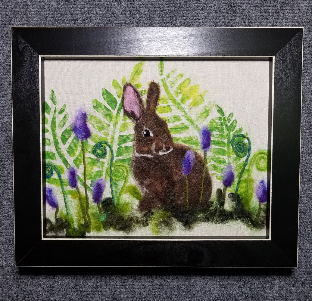 Bunny in the Ferns by Valerie Johnson
