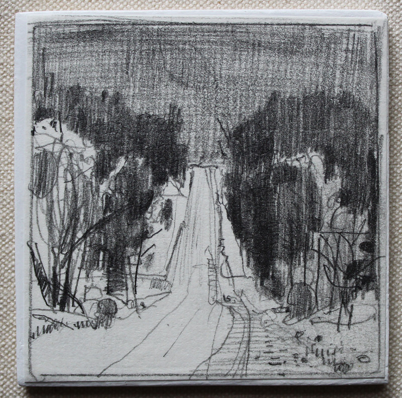 Drawing Christmas, Richardson's Hill  by Harry Stooshinoff