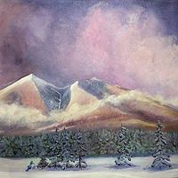 Print SNOWPEAKS 1 by Frederica  Hall