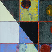 "Birmingham: oil, wax on linen, 34"" x 26"" 2004 by Judy Southerland"