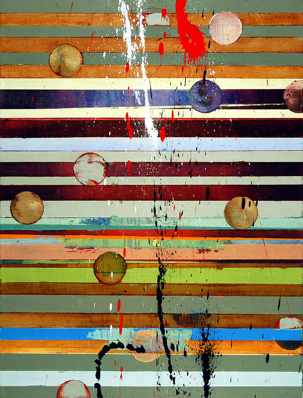 "Water Into Wine: oil and wax on linen, 34"" x 26"" 2006  by Judy Southerland"