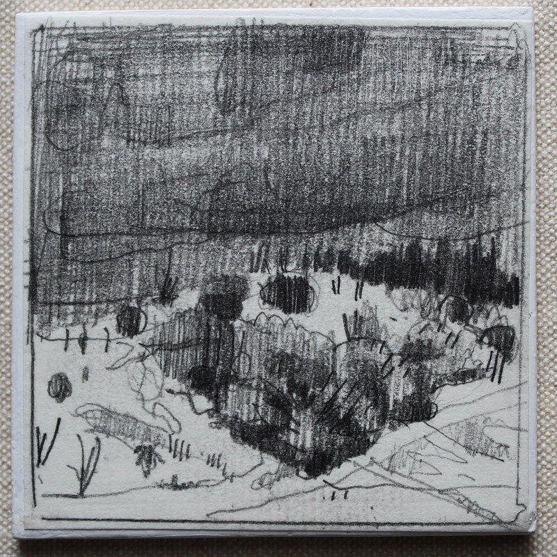 Drawing Wendy's Hill, December 27  by Harry Stooshinoff