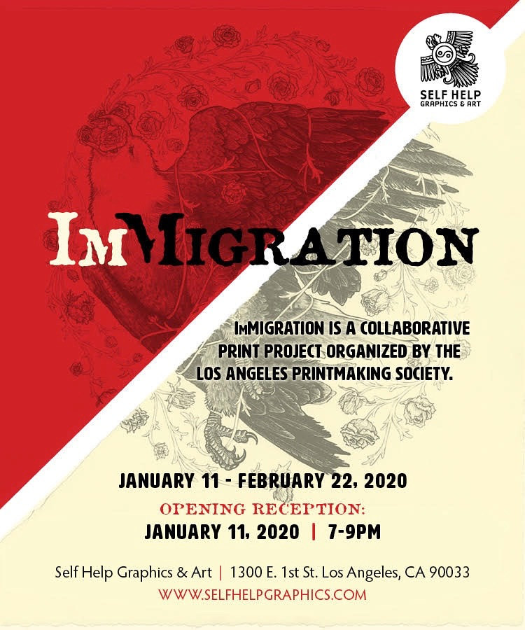 ImMigration Collaborative Print Project in LA by Cathie Crawford