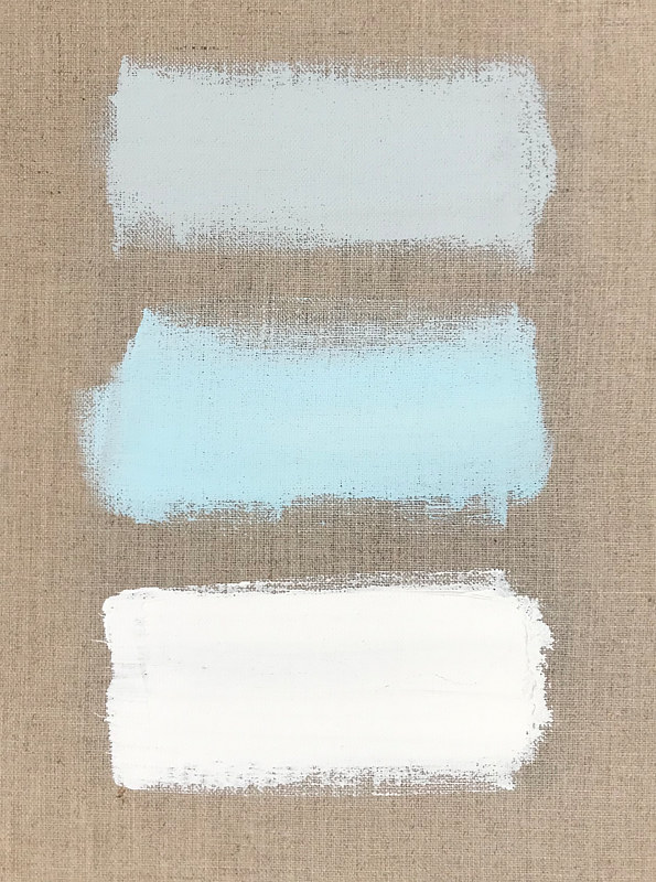 Acrylic painting Color Study: Shades of Blue by Sarah Trundle