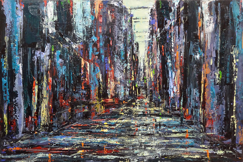 Acrylic painting Urbania No. 6 by David Tycho