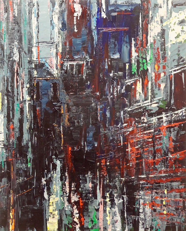 Acrylic painting Urbania No. 7  by David Tycho