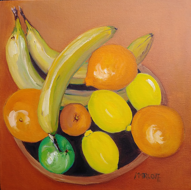 Oil painting Be the Lime (2) by Michelle Marcotte