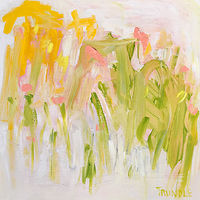 Acrylic painting Field of Lilies by Sarah Trundle